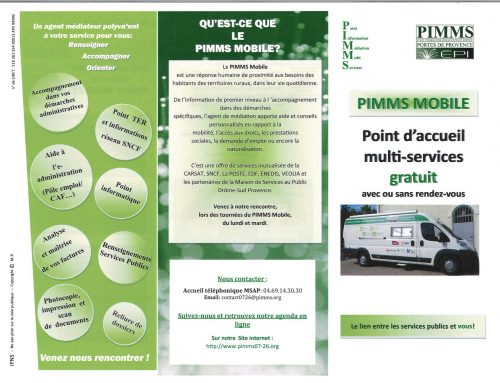 Lundi 12 avril 2021 : Escale camion PIMMS MOBILE