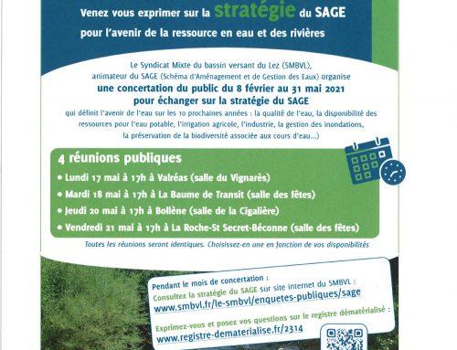 Concertation préalable du Schéma d'Aménagement et de Gestion des Eaux (Sage) du bassin versant du Lez